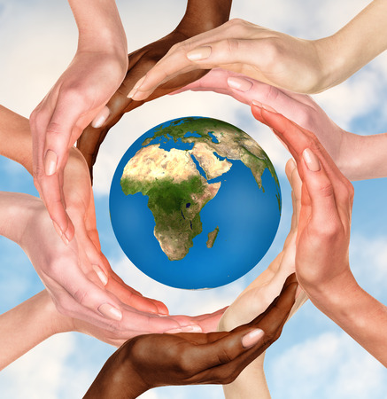 CQ diverse hands encircling the globe representing the importance of cultural intelligence